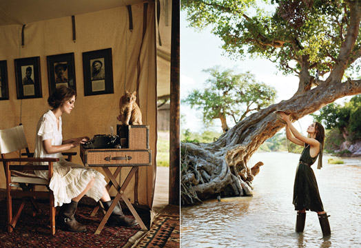 a whimsical, romantic dress done right » Keira Knightley for Vogue