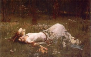 Ophelia John William Waterhouse 1889 Pre-Raphaelite